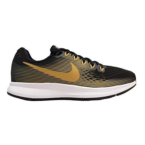 Nike WMNS Air Zoom Pegasus 34 880560-009 Black/Metallic Gold Women's Running Shoes (6)