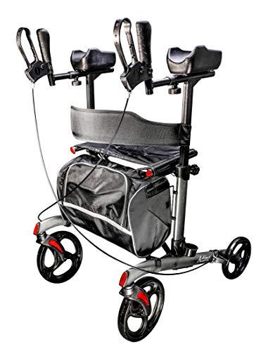 FabaCare Arthritis Rollator Actimo Arthro, faltbarer Arthritisrollator, höhenverstellbare Unterarmauflagen,Tasche, Rückengurt, bis 136 kg