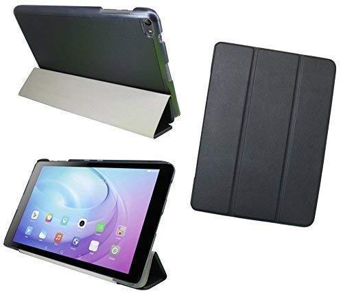 ENERGMiX Tablet Tasche Hülle kompatibel mit Huawei MediaPad T2 10.0 Pro (10,1 Zoll) Cover Case Etui Slim-LINE mit Ständer in Schwarz