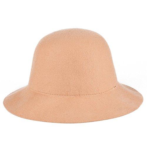NIAISI Sombrero De Ala Del Sombrero Flexible Cubo Bowler Elegante Dama De...