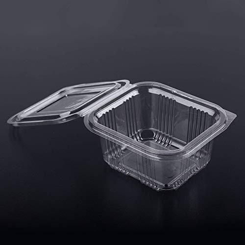 (Confezione da 70) 375 ml nuovi biscotti cracker per biscotti Contenitori per insalata Fast food da asporto Scatola usa e getta Coperchi in plastica Conservazione