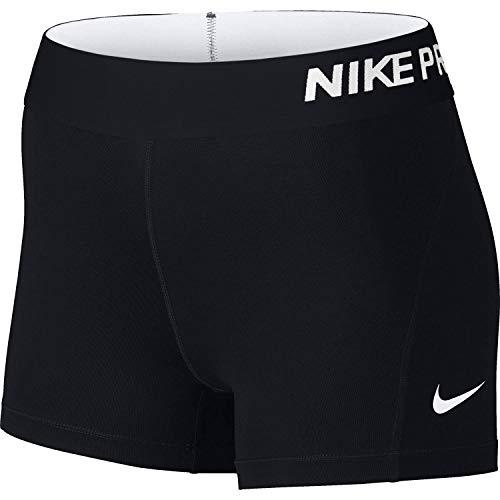 """Nike Damen Pro 3"""" Cool Shorts, Schwarz (schwarz/weiß), M"""