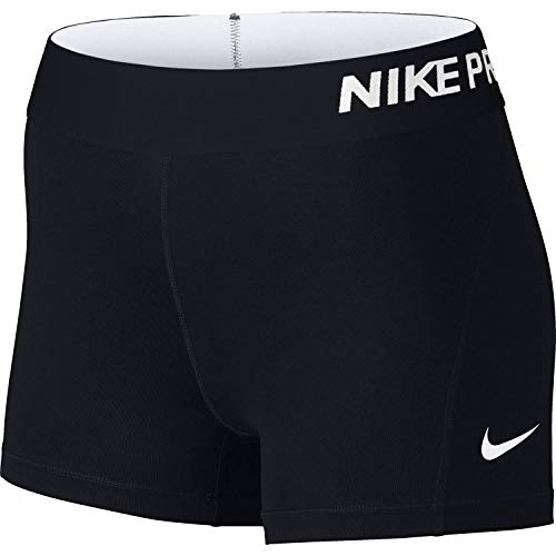 NIKE Women's Pro 3' Training Shorts, Dark Grey/Heather/Black, Small