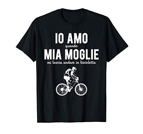 Uomo Mountain Bike Bici Regalo MTB Adoro Andare In Bicicletta Maglietta