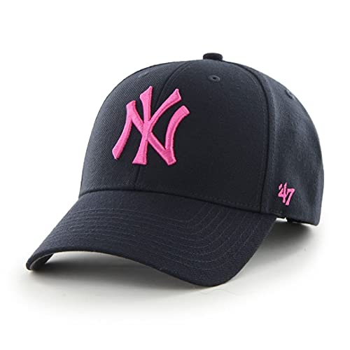 Gorra unisex de los New York Yankees, marca '47 Azul Navy/Pink Talla única
