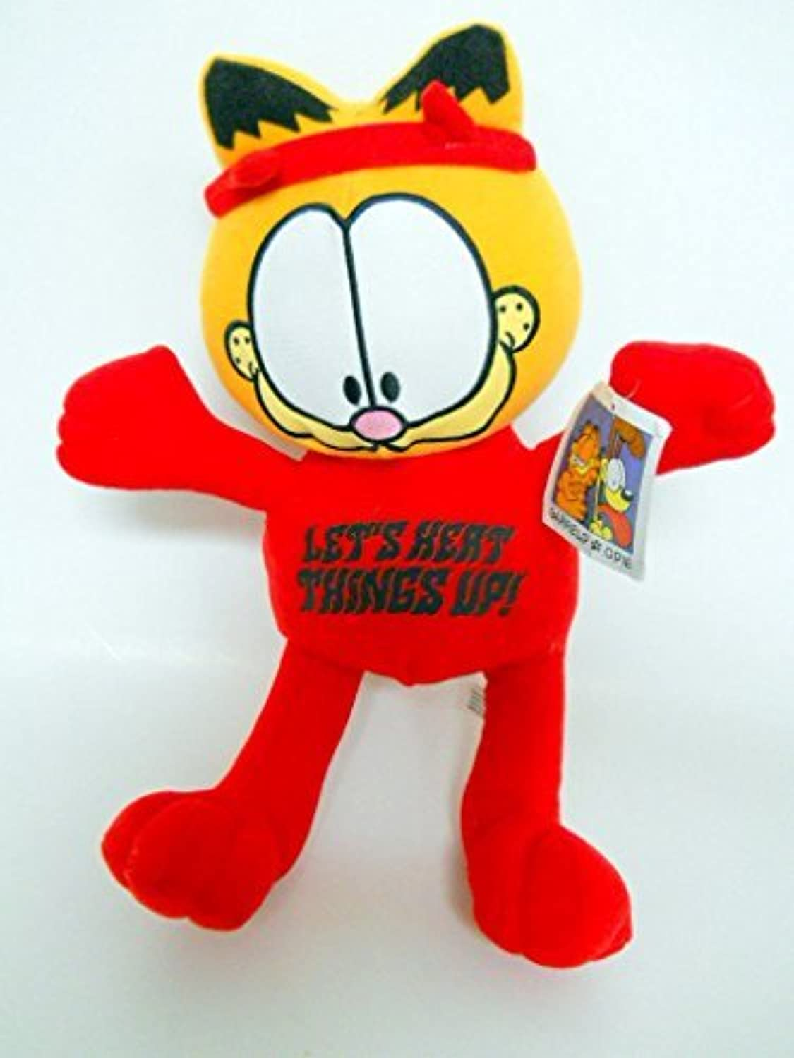 Large Garfield Let's Heat Things Up Stuffed Plush 14 by Toy Factory   Paws
