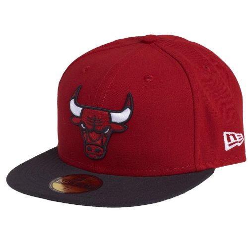 New Era Nba Basic Chicago Bulls 59Fifty Fitted - Gorra para hombre, Red/black, 7 1/2