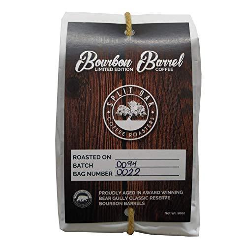 Organic Bourbon Barrel Roasted Coffee Beans 10oz, Limited Edition Barrel Aged to Perfection Whole Beans, Single Origin, Medium Roast Award Winning by Split Oak Coffee Roasters (Single)