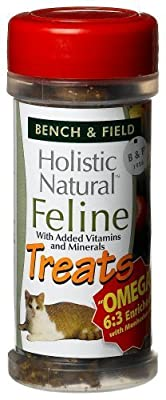 Bench & Field Holistic Natural Feline Treats, 3-Ounce Jars (Pack of 6)