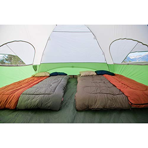 Coleman 8-Person Dome Tent with Screen Room | Evanston Camping Tent with Screened-In Porch