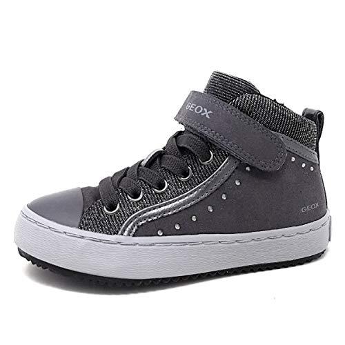 Geox J Kalispera Girl I Hohe Sneaker, Grau (Dk Grey), 36 EU