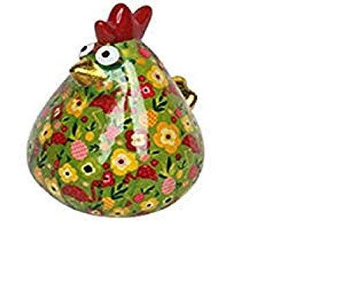 Apfel-Pidou Spardose Big Mathilda Henne grün Flamingo