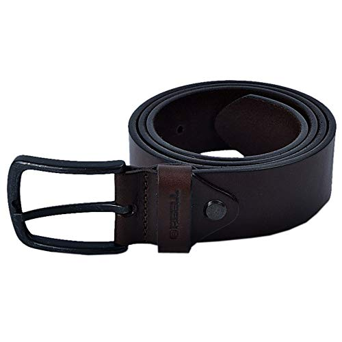 Reell All Black brown Leather Belt Taille S/M