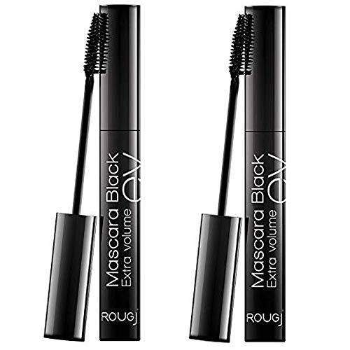 2x Rougj - Mascara Black EXTRA VOLUME EV - 10,5 ml - Pacchetto contenente 2 Mascara da 10,5 ml | Make Up e accessori per il trucco