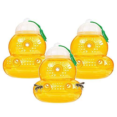 Outward Creations - Set di 3 trappole per vespe, Senza Cuciture sul Fondo, per eliminare Le perdite