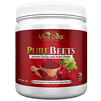 PureBeets | Made from Pure Organically Grown Beets | Best Value Beetroot Nitric Oxide Supplement | Beets Support Faster Recovery & Total Body Health - Viva Deo  17.5 oz 78 Servings