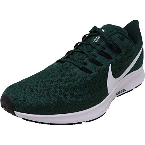 Nike Men's Air Zoom Pegasus 36 Tb Pro Green/White Outdoor Ankle-High Mesh Running - 10M