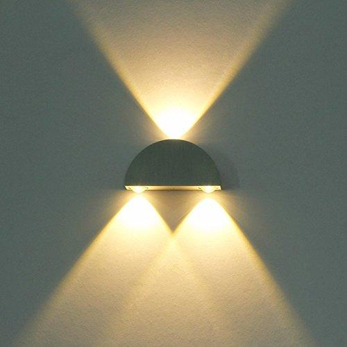 LED Mini Applique Intérieur Chaud Blanc 6W Design Moderne Mur Lampe De Chevet Creative Metal Fixture Mur Spotlight Plafond Décoratif Mur Éclairage Chambre Balcon Bar Hall D'entrée Lumière Chaude