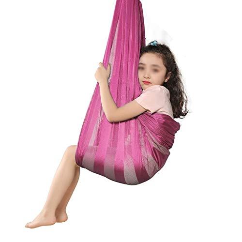 YAWEDA Activa Yoga Swing aérea (Hardware Incluido) Columpio sensorial Grande for los niños con Necesidades Especiales Cubierta oscilación Terapia física for el Autismo TDAH