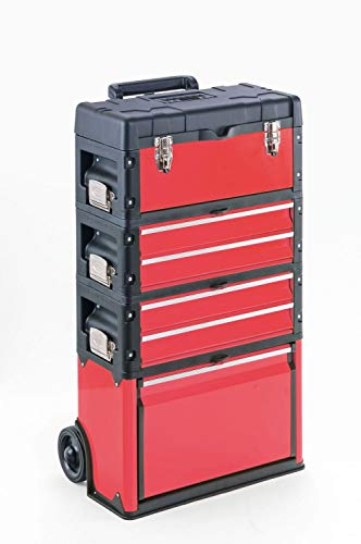 Werkzeugtrolley, 4-fach 1k.2.2.1 rot