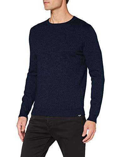 TOM TAILOR Herren Modern Basic Pullover, 24207-navy Blue Mouline, S