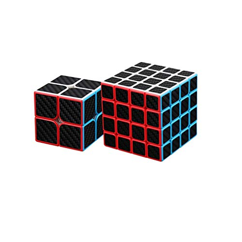 HZZ Speed Cube 50x50x50 62x62x62 Etiqueta De Fibra De Carbono Smooth Magic Cube Puzzle 3D Juguetes para NiñOs Y Adultos Negro