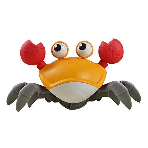 Whiie891203 Kinder, Die In Der Wasserkrabbe Baden, Kinder-Karikatur-Aufzieh-Uhrwerk-Schwimmkrabbe, Die Wasserspielspiel-Baby-Badespielzeug Schwimmt rot