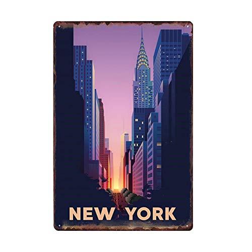 United States New York Metal Poster Retro Tin Sign Plaque Vintage Decoration Bar Becorative Plates Home Decor 50032