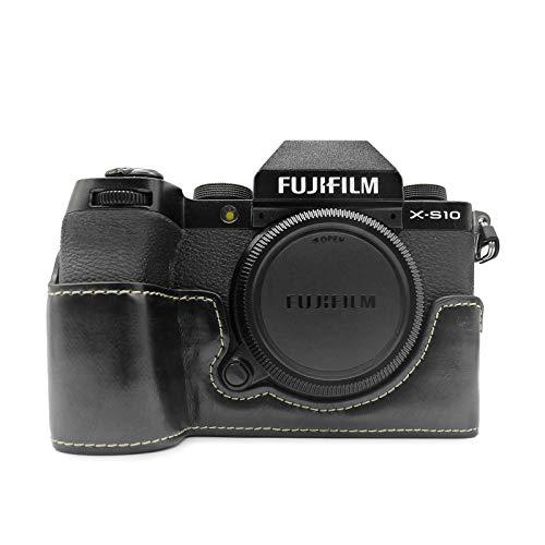 MUZIRI KINOKOO Schutzhülle für FUJI X-S10 Fujifilm XS10 Hülle Grip Case Schwarz
