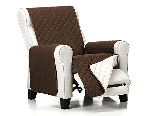 Lanovenanube - Funda sillón Acolchado - Práctica - 1 Plaza - Color Marrón C03