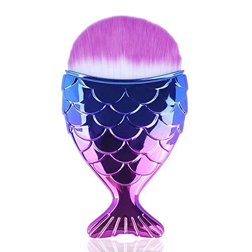 Maquillage Brosses Cosmétique Professionnel Queue Sirène Titulaire Forme Maquillage Brosse Fondation Cosmétique Poissons Outils Kit Poudre Face a J