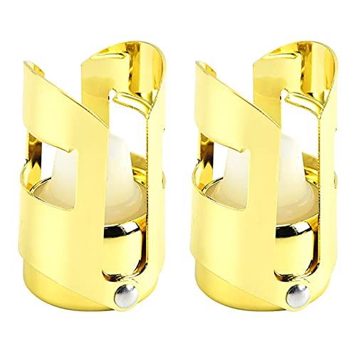 Matedepreso 2 tapones de champán, a prueba de fugas de retención de burbujas, tapón de vino espumoso (dorado)