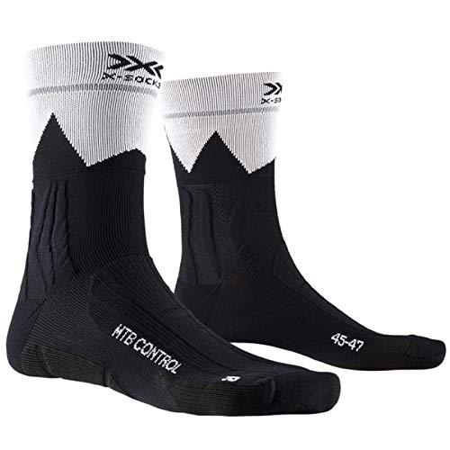 X-Socks Mountain Bike Control Socks, Unisex Adulto, Opal Black/Zigzag, 42-44