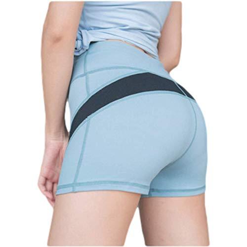 Pantalones Cortos de Mujer Pantalones Cortos de Yoga cómodos Casuales Sencillos Pantalones Cortos Deportivos Ajustados de Moda para Correr M