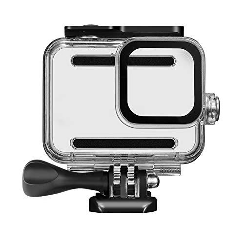 Kupton Unterwassergehäuse für GoPro Hero 8 Zubehör Gehäuse Gehäuse Tauchen Schutzgehäuse Schale 60 Meter für Gopro Hero8 Action Kamera mit Halterung Zubehör