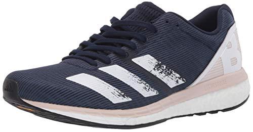 adidas Women's Adizero Boston 8 w Sneaker, Collegiate Navy/White/Echo Pink, 11 M US