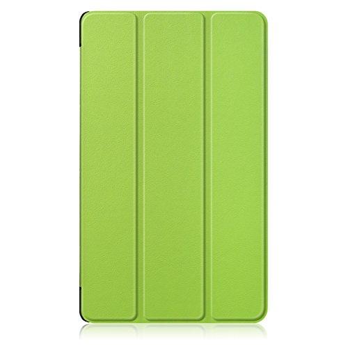 ZhuoFan Huawei Mediapad M5 8.4 Hülle, Schlanke Leicht Hülle Tasche Ständer Schutzhülle mit Auto Schlaf/Wachen Cover für Huawei M5 8,4 Zoll Tablet, Grün