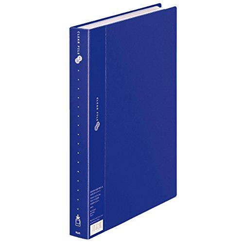 プラス ファイル クリアファイル スーパーエコノミー A4縦 60ポケット 88-441 ネイビー