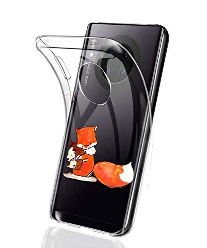 Suhctup Coque Compatible avec Huawei Mate 20,Ultra-Mince Souple Gel Coque Souple Soft Silicone [Shock-Absorption] Souple Solide Resistant Fine Protection Housse Etui Transparente Motif Tendance