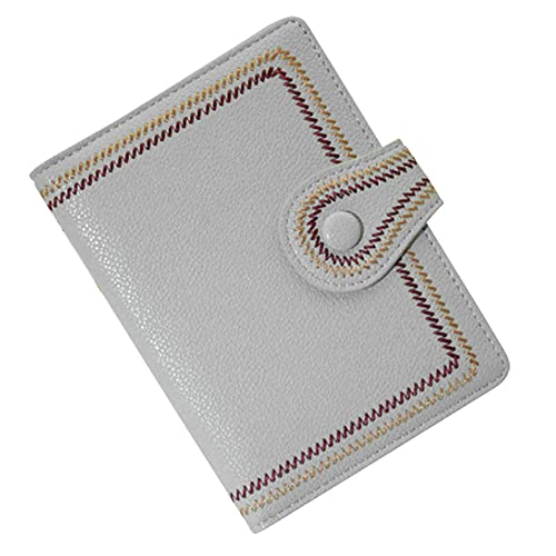 [スーツケースカンパニ?]GPT パスポートケース 刺繍 かわいい おしゃれ PU レザー カード入れ 貴重品 収納 整理 海外旅行 トラベル グレー
