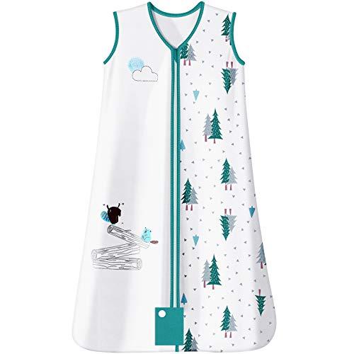 Baby Schlafsack für Kleinkinder Unisex Ganzjährig 1.0 Tog Baumwolle Ärmellos Weich Atmungsaktiv Lichtecht Reißverschluss mit Schutz MUBYTREE (18-24 Monate / 86.5cm)