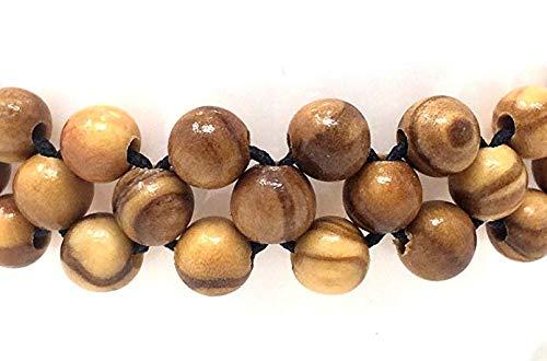 bagusto Armband aus kleinen Olivenholz Perlen - handgemacht - Holzschmuck - Naturprodukt - auch als Fußkettchen tragbar - Olivenholzschmuck