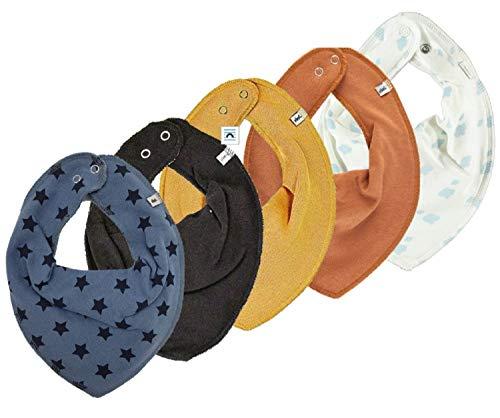 Pippi 4er Set ~ zur Auswahl ~ Baby Dreieckstuch Halstuch 4 Stück Organic Cotton + 1 GRATIS Tuch ~ 5er Pack (Boy Mix 7)