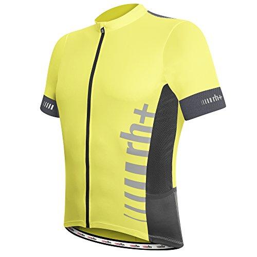 rh+ Logo Evo, Endurance Bike Jersey Uomo, Yellow Fluo –Anthracite, XL