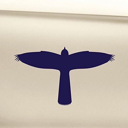 Nashville Decals Harrier Hawk Bird Vinyl Decal Laptop Car Truck Bumper Window Sticker - Navy Blue
