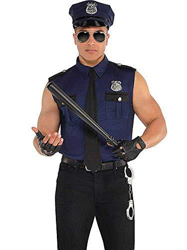 Amscan 845778-55 Under Arrest Police Officer Maillot de bain pour homme Bleu Taille L