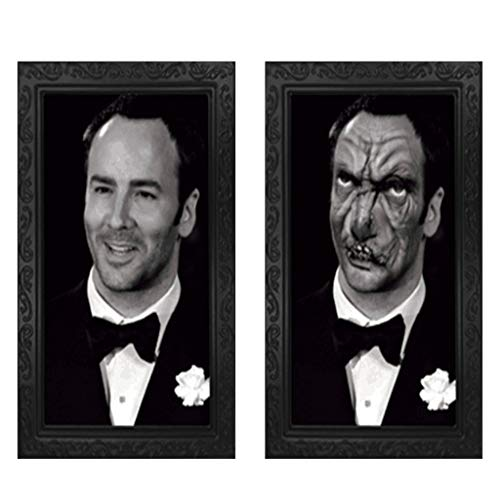 Horror Picture Frame Lenticular 3D Changing Face Scary Portraits Haunted Spooky Home & Garden Home Decor