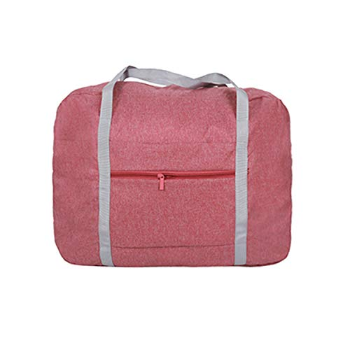 Enlarge Foldable Travel Bag Women Portable Big Duffle Bag Organizer Suitcases And Travel Bags Weekend Bag Garment Tote,Pink L Size,Onesize