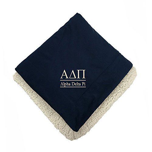 Sorority Letters Shop Alpha Delta Pi Sherpa Throw Blanket