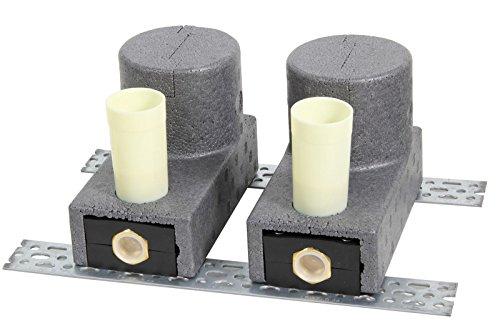 Unterputz-Kombination 2-fach für Wohnungs-Wasserzähler